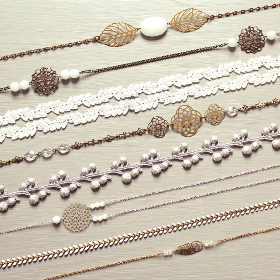 Collection Pemberley White 2015 | Headbands bijoux de tête
