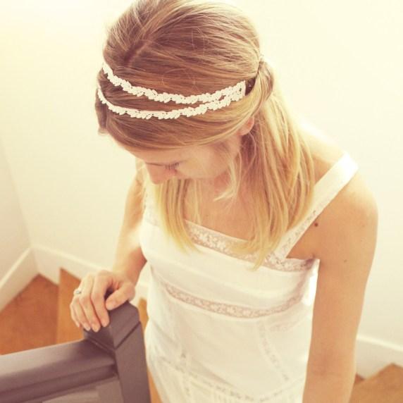 Headband bijou de tête LAURIER | Headband dentelle mariage Pemberley