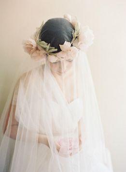 Couronne de fleurs Mariage _ Erica Elizabeth Designs_MODWedding