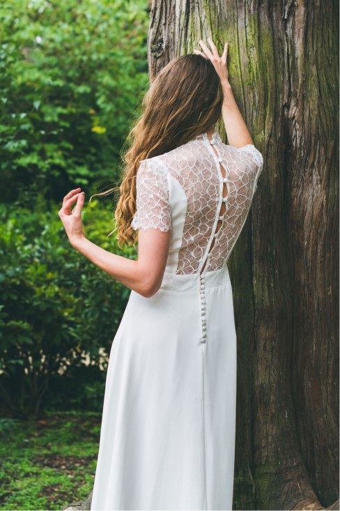L'Amoureuse (de dos), Adeline Bauwin | Robes de mariée Collection 2016,