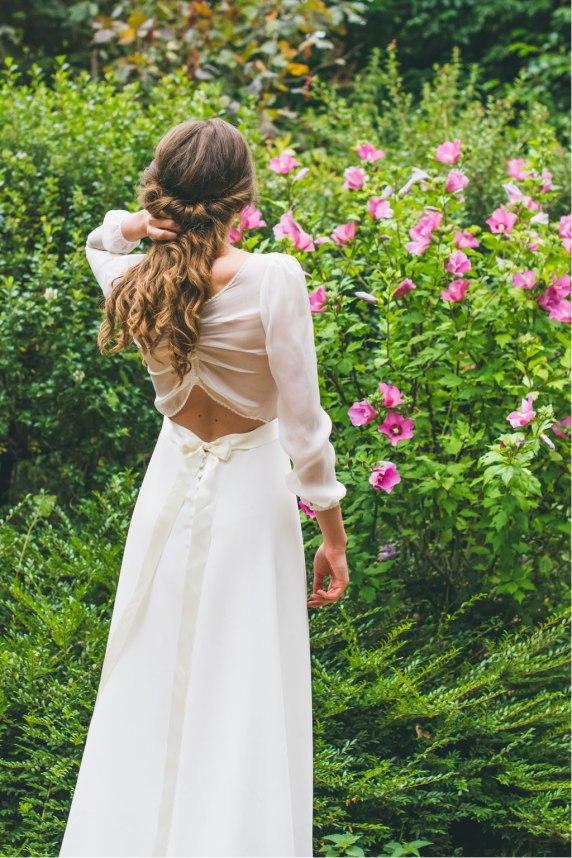 L'Envoûtante (dos), Adeline Bauwin   Robes de mariée Collection 2016