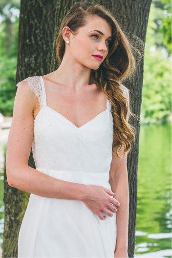 L'Étincelante (détail), Adeline Bauwin   Robes de mariée Collection 2016