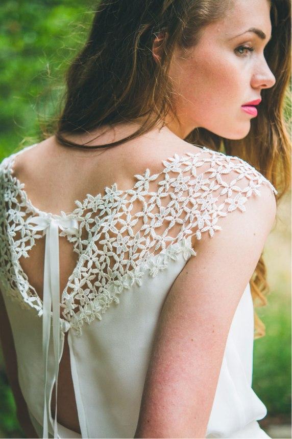 La Délicate (détail), Adeline Bauwin   Robes de mariée Collection 2016,