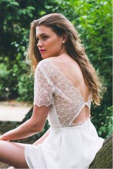 La Pétillante (dos), Adeline Bauwin | Robes de mariée Collection 2016,