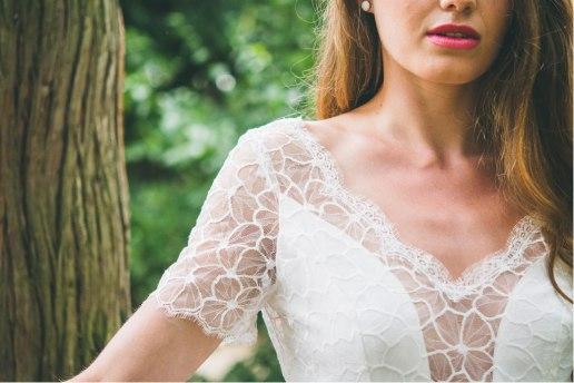 La Pétillante (détail), Adeline Bauwin | Robes de mariée Collection 2016,