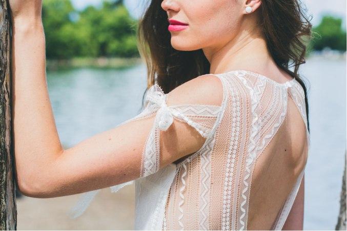 La Séduisante (détail), Adeline Bauwin | Robes de mariée Collection 2016