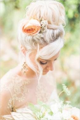 chignon mariage bun © Karma Hill Photography