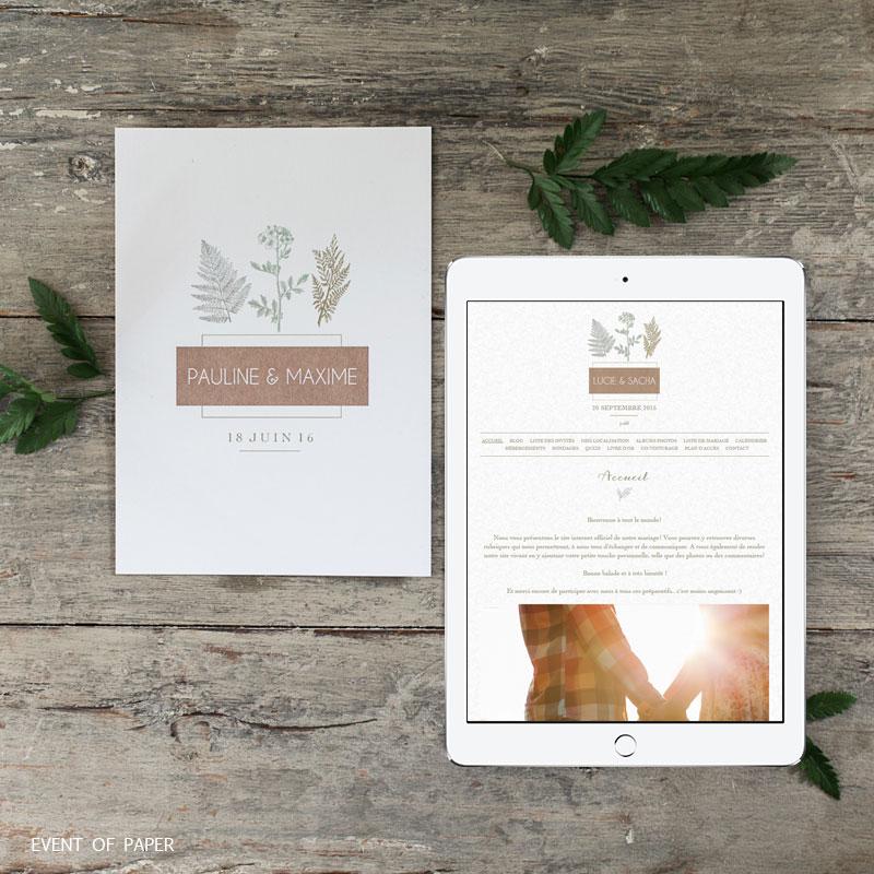 Concours - Gagne ton blog de mariage personnalisé - Petit Mariage Entre Amis X Event Of Paper | La Mariée Sous Les Etoiles