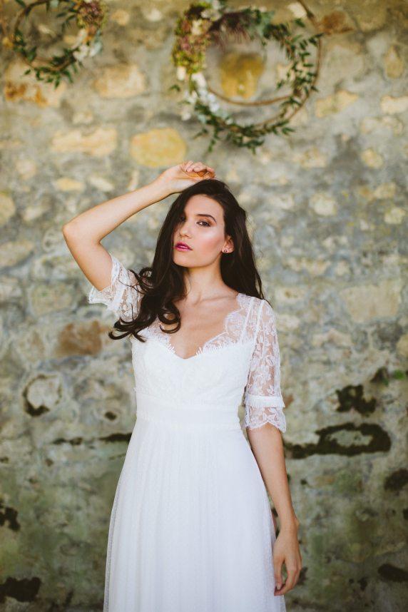 Dahlia Milk • La collection 2017 de robes de mariée signée Salomé Gautard