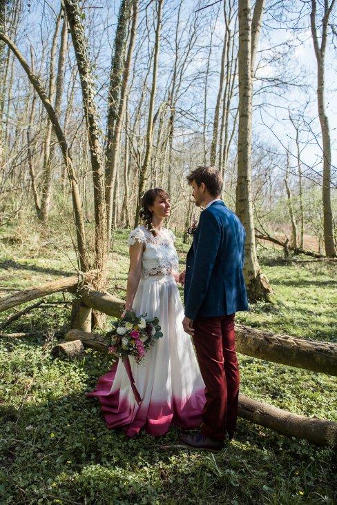 Shooting d'inspi mariage boho denim dans la forêt bordelaise blondie confettis (7)