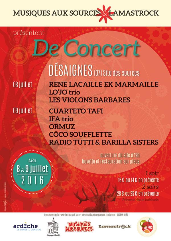 Affiche De concert 2016