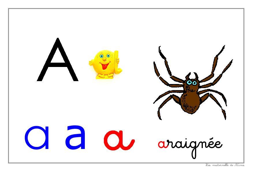 Alphabet à afficher