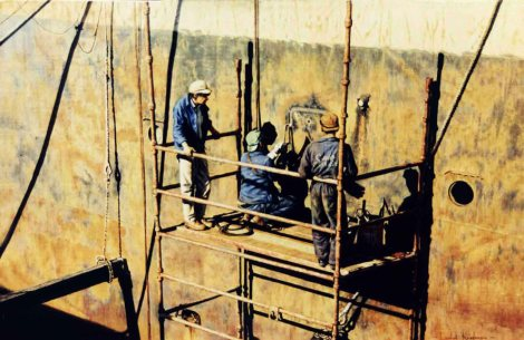 Welders Oil on canvas