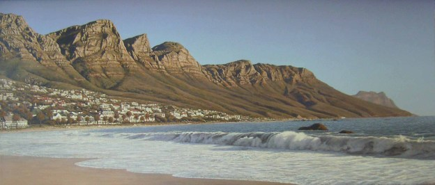 Twelve Apostles from Camps Bay beach