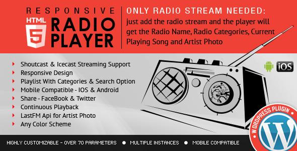 Rádio Player Shoutcast & Icecast WordPress Plugin