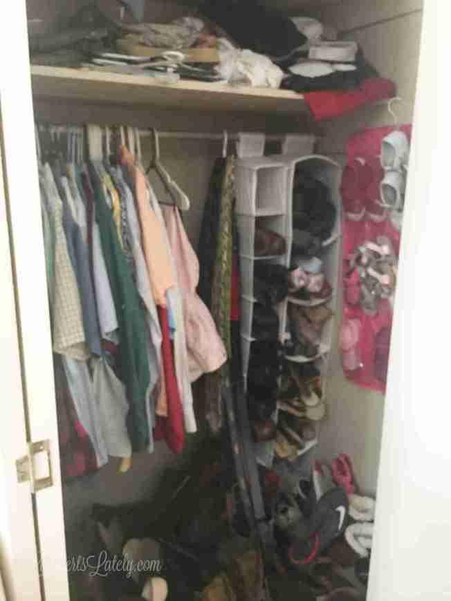 How We Finally Organized Our Small Bedroom Closets Lamberts Lately Stunning Small Bedroom Closet