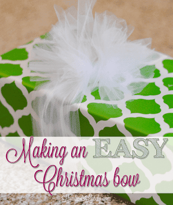 How I Make My (Easy) Christmas Gift Bows