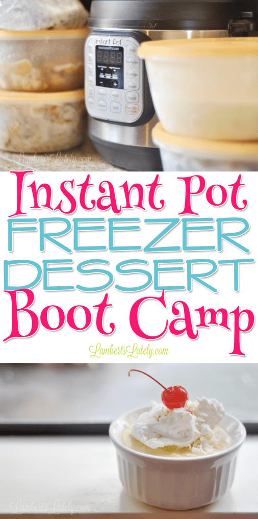 This Instant Pot Freezer Dessert Boot Camp has all you need to prep 5 desserts for the pressure cooker: printable recipe labels, a grocery list, and full prep instructions! These sweet recipes are so easy and delicious. Great time saver!