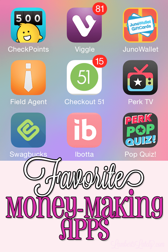 Favorite Money-Making iPhone Apps - 2014 | Lamberts Lately