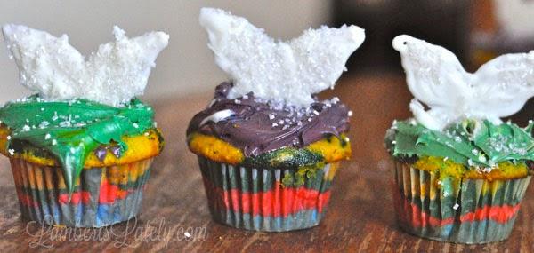 Fairy Dust Rainbow Cupcakes
