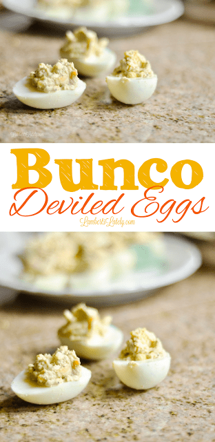 Bunco Deviled Eggs Recipe || Easy Ham and Cheese Boiled Eggs || Best Side Dish || Bunco Buns || Classic Easy Dish