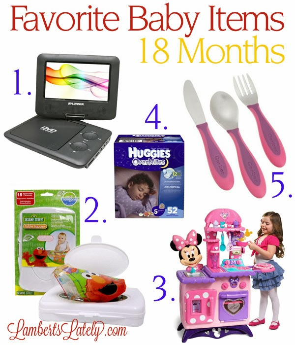A collection of most popular baby items for an 18 month old! http://www.lambertslately.com/2013/10/top-5-baby-items-18-months.html