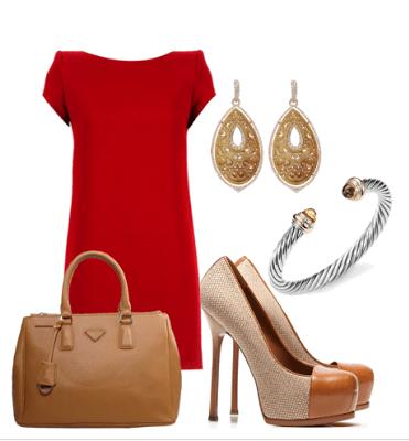 Saint Laurent Red Dress