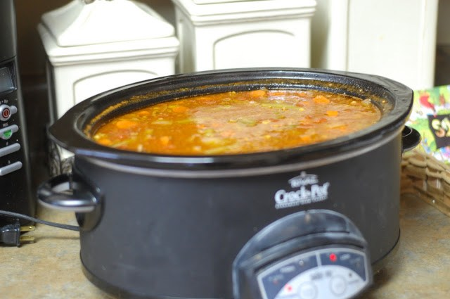 Vegetable Beef Soup Recipe in the Crock Pot!