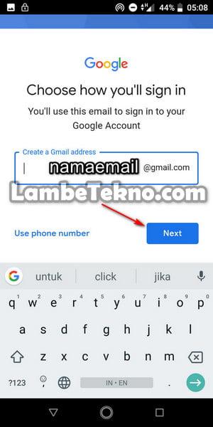 Alamat Email Gmail Baru Kamu