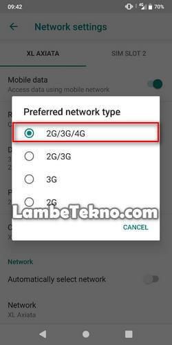 cara lock sinyal 4g di Android