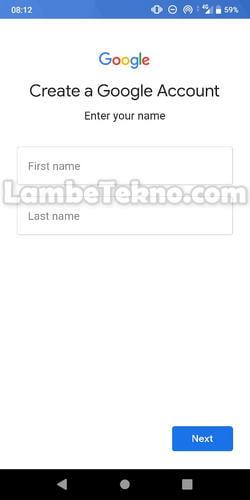Buat Nama Depan dan Belakang