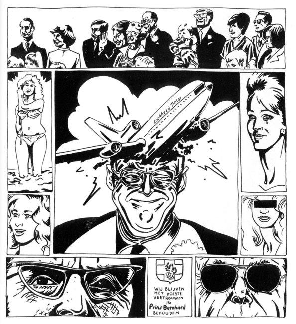 Prins Bernhard comic by Willem