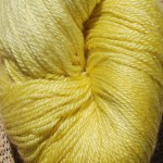 Rainbow Hand-dyed Prism Yarn - Yellow Gerbera