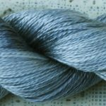 Hand-Dyed 100% Silk Yarn  - Silver Dapple