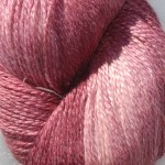 Hand-dyed 100% Silk  - Raspberry Frost