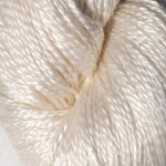 Hand-dyed 100% Silk  - White Phlox