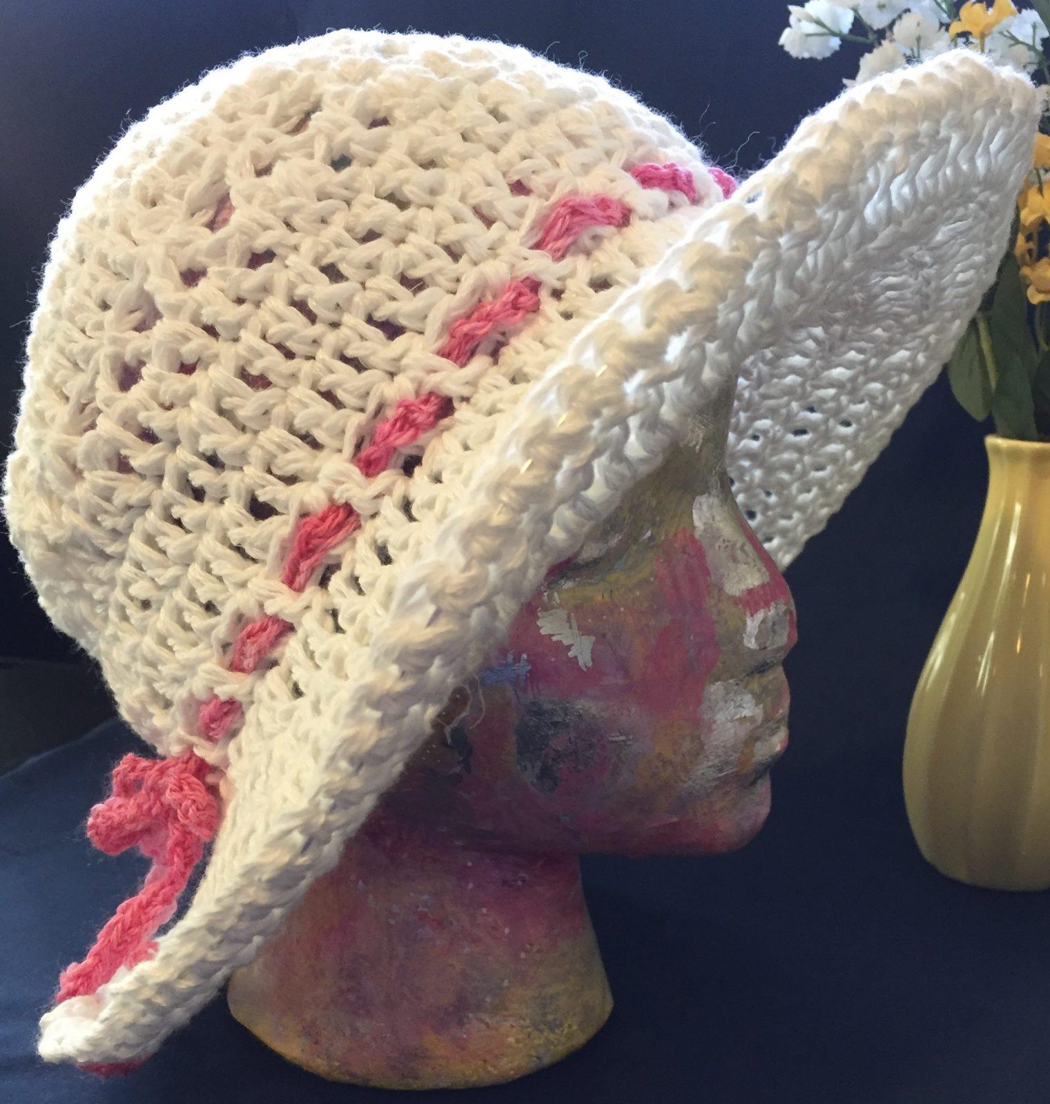 de92687d0b502 Crocheted Sun Hat Workshop  June 13th