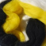 Hand-dyed Merino Silk Fiber - Bee Friendly