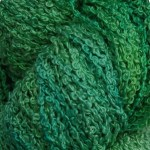 Hand-dyed 100% Silk Bouclé - Green Parrot