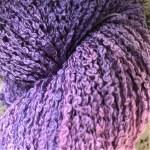 Hand-dyed 100% Silk Bouclé - Freesia