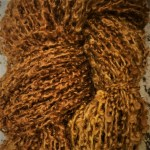 Hand-dyed Kid Silk Bouclé - Aspen Gold