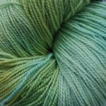 Superwash Sock Yarn - Frosty Meadow with sparkle