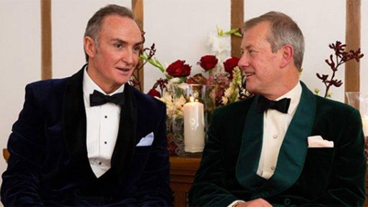 Lord Ivar Mountbatten, primo de la reina Isabel II. se casó este fin de semana con James Coyle