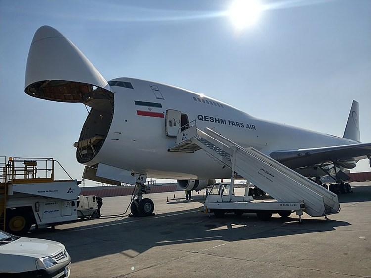 """El """"jumbo"""" Boeing 747 utilizado por Irán para llevar armas"""