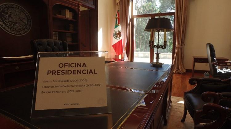 La oficina donde despachaba Enrique Peña Nieto Foto: Juan Vicente Manrique
