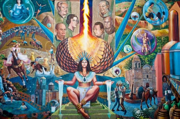 Mural dedicado a Mayahuel en Tequila, Jalisco (Foto: Tequila México)
