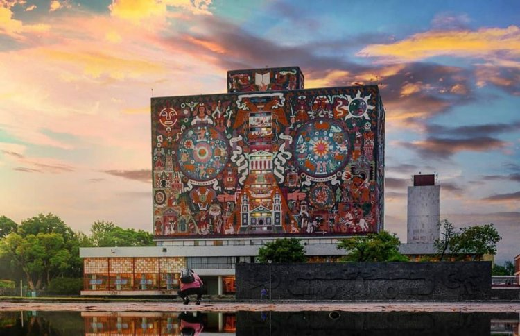 La Biblioteca Central, una de las joyas de Ciudad Universitaria (Instagram)