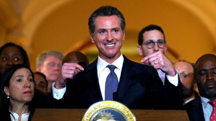 El gobernador de California, Gavin Newsom (AFP)