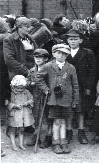 Famiglie di Ebrei in attesa della selezione - Auschwitz 2