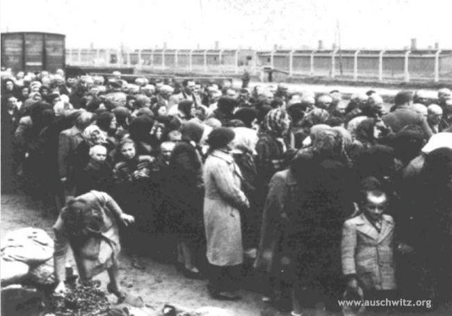 Deportati ad Auschwitz 2 in attesa della selezione